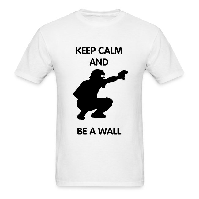 keep calm and be a wall