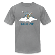 T-Shirts ~ Men's T-Shirt by American Apparel ~ Skiier Tree Mens T-Shirt by American Apparel