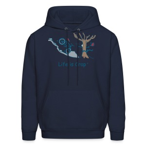 Mtn Bike Rock Tree - Mens hooded sweatshirt - Men's Hoodie