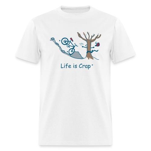 Mtn Bike Rock Tree - Men's Standard Weigh T-Shirt - Men's T-Shirt