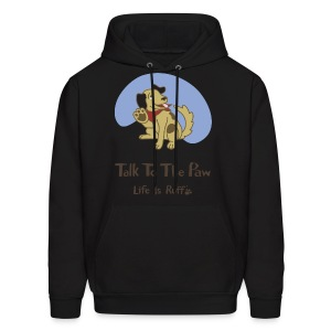 Talk to the Paw Men's Hooded Sweatshirt - Men's Hoodie