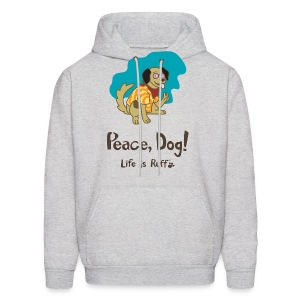 Peace Dog Men's Hooded Sweatshirt - Men's Hoodie