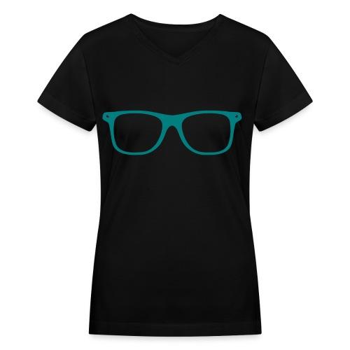 Nerd Swagg Womens Fitted V-Neck - Women's V-Neck T-Shirt