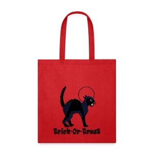 Halloween Ornate Black Cat & Moon - Tote Bag