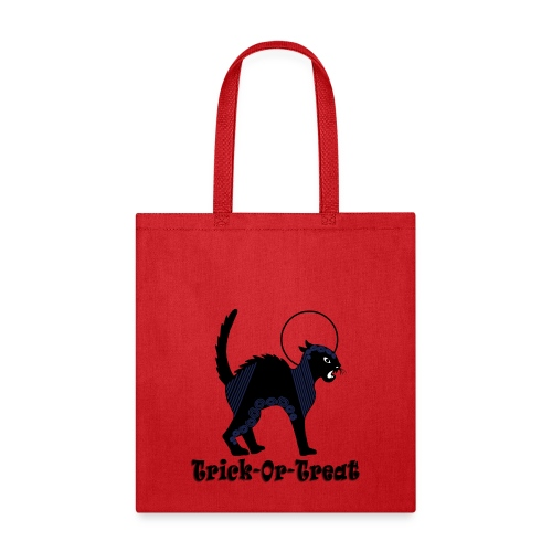 Halloween Ornate Black Cat & Moon - Tote Bag