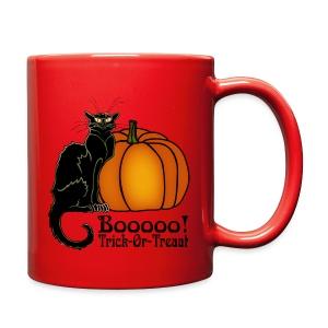 Trick-Or-Treat Art Neouvou Black Cat & Pumpkin - Full Color Mug