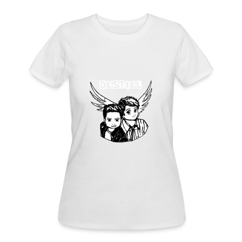 Destiel in Black and White (with writing) - Women's 50/50 T-Shirt