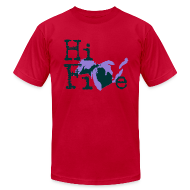 T-Shirts ~ Men's T-Shirt by American Apparel ~ Hi Five
