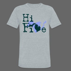 Hi Five - Unisex Tri-Blend T-Shirt by American Apparel