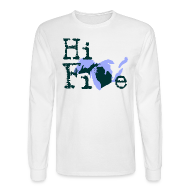 Long Sleeve Shirts ~ Men's Long Sleeve T-Shirt ~ Hi Five