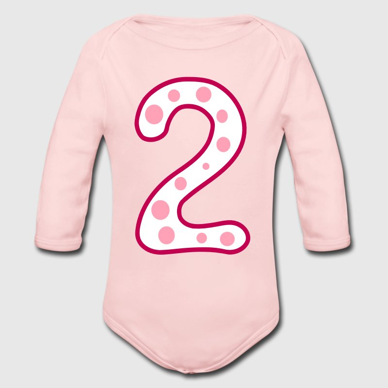 Number two 2 Baby Long Sleeve One Piece - Long Sleeve Baby Bodysuit