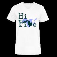 T-Shirts ~ Men's V-Neck T-Shirt by Canvas ~ Hi Five