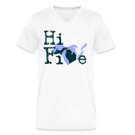 T-Shirts ~ Men's V-Neck T-Shirt by Canvas ~ Hi Five