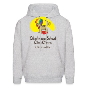 Obedience Shool Class Clown Men's Hooded Sweatshirt - Men's Hoodie
