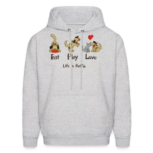 Eat Play Love! Men's Hooded Sweatshirt - Men's Hoodie