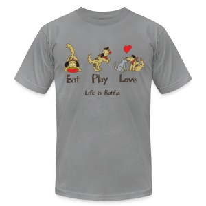 Eat Play Love! Men's T-Shirt by American Apparel - Men's T-Shirt by American Apparel