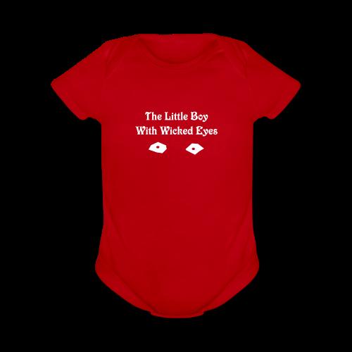 The Little Boy with Wicked Eyes Baby Bodysuit - Organic Short Sleeve Baby Bodysuit