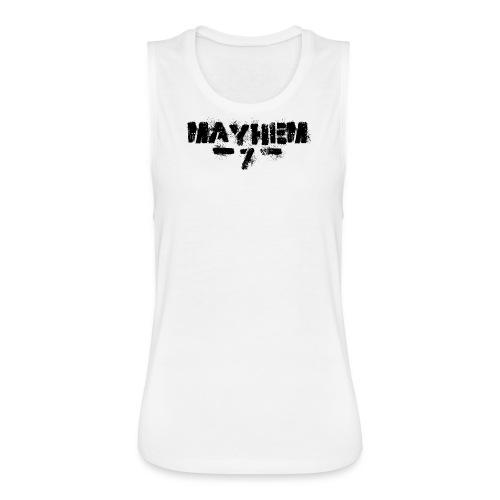 MayheM7 Logo-7 Black - Women's Flowy Muscle Tank by Bella