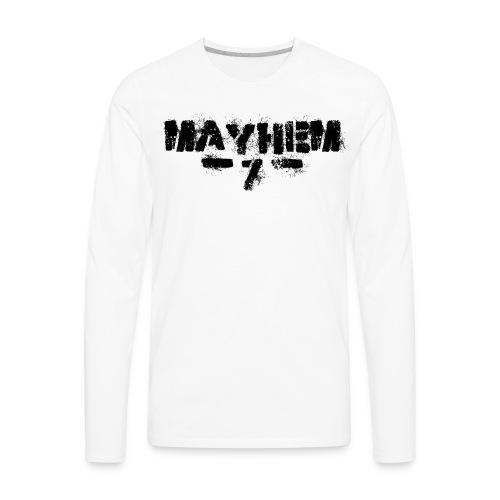 MayheM7 Logo-7 Black - Men's Premium Long Sleeve T-Shirt