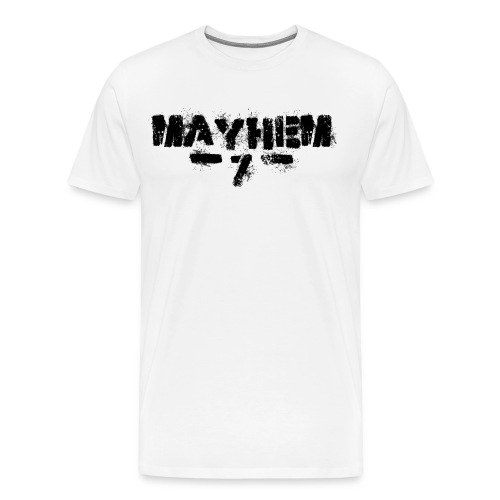 MayheM7 Logo-7 Black - Men's Premium T-Shirt