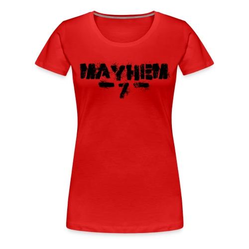 MayheM7 Logo-7 Black - Women's Premium T-Shirt