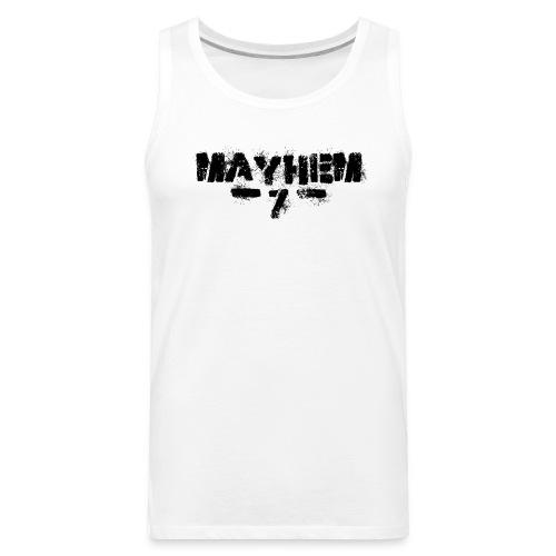 MayheM7 Logo-7 Black - Men's Premium Tank