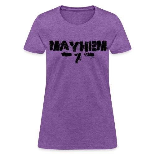 MayheM7 Logo-7 Black - Women's T-Shirt