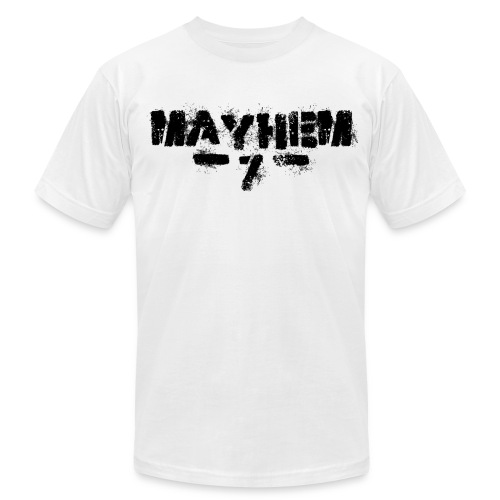 MayheM7 Logo-7 Black - Men's Fine Jersey T-Shirt