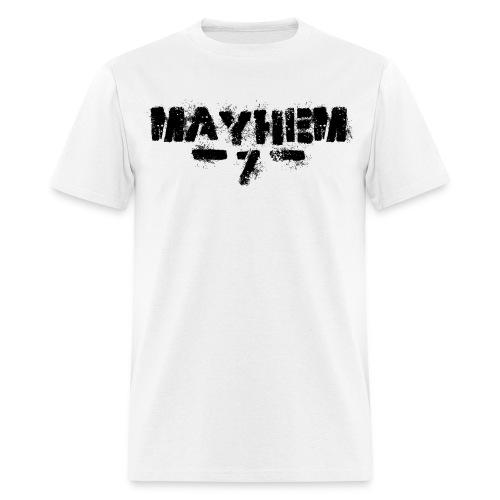 MayheM7 Logo-7 Black - Men's T-Shirt