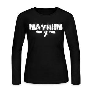 MayheM7 Logo-7 White - Women's Long Sleeve Jersey T-Shirt