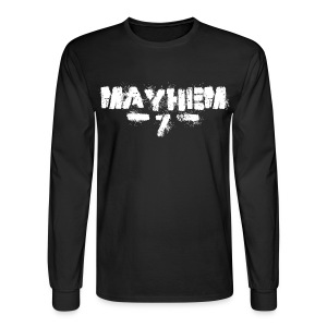 MayheM7 Logo-7 White - Men's Long Sleeve T-Shirt