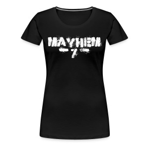 MayheM7 Logo-7 White - Women's Premium T-Shirt