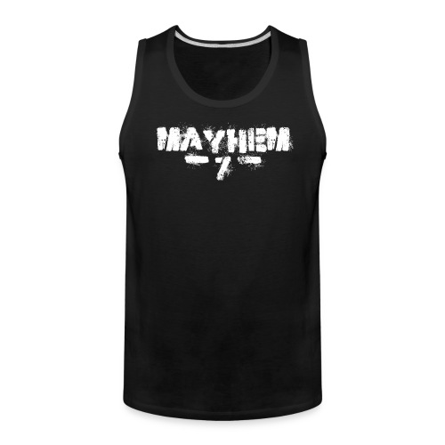 MayheM7 Logo-7 White - Men's Premium Tank