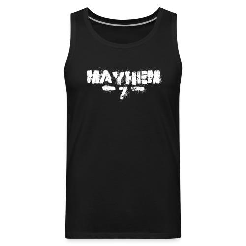 MayheM7 Logo-7 White - Men's Premium Tank