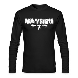 MayheM7 Logo-7 White - Men's Long Sleeve T-Shirt by Next Level