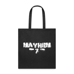 MayheM7 Logo-7 White - Tote Bag