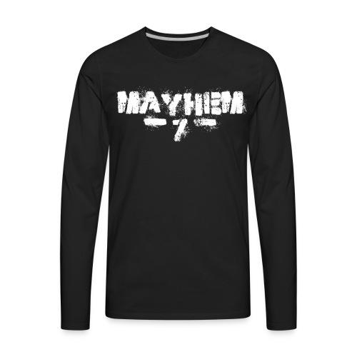 MayheM7 Logo-7 White - Men's Premium Long Sleeve T-Shirt