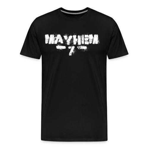 MayheM7 Logo-7 White - Men's Premium T-Shirt