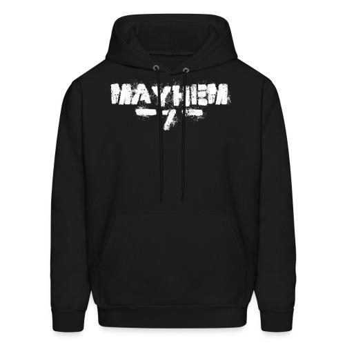 MayheM7 Logo-7 White - Men's Hoodie