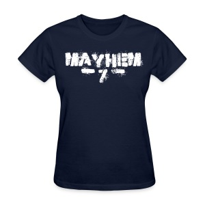 MayheM7 Logo-7 White - Women's T-Shirt