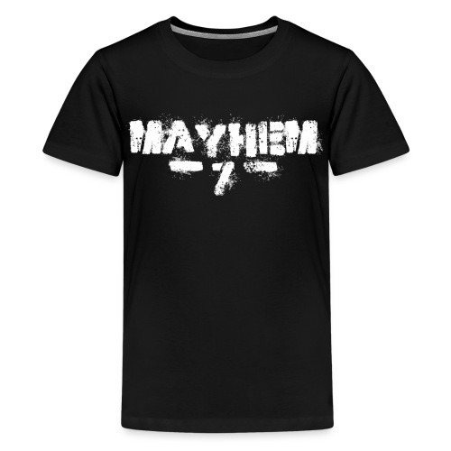 MayheM7 Logo-7 White - Kids' Premium T-Shirt