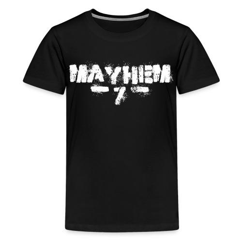 MayheM7 Logo-7 White - Kids' Premium T-Shirt