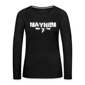 MayheM7 Logo-7 White - Women's Premium Long Sleeve T-Shirt