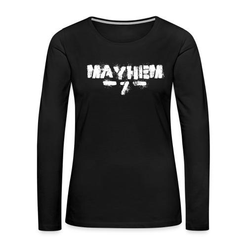 MayheM7 Logo-7 White - Women's Premium Long Sleeve T-Shirt