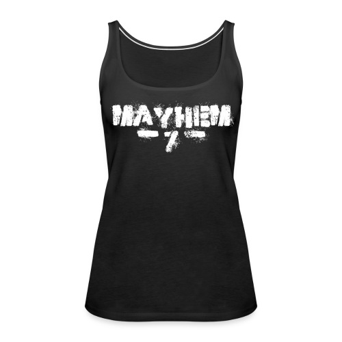 MayheM7 Logo-7 White - Women's Premium Tank Top