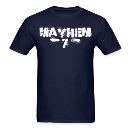 MayheM7 Logo-7 White - Men's T-Shirt