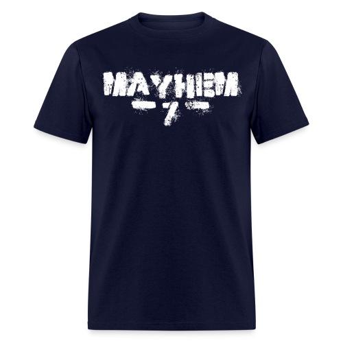 MayheM7 Logo-7 White - Men's T-Shirt