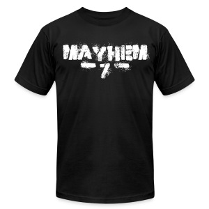 MayheM7 Logo-7 White - Men's T-Shirt by American Apparel