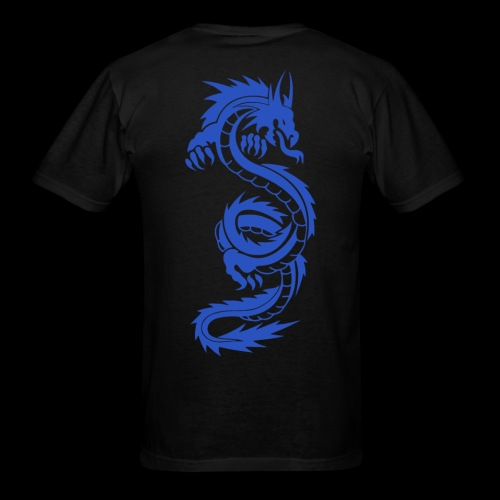 Blue Wyrm Men's Black T-Shirt - Men's T-Shirt