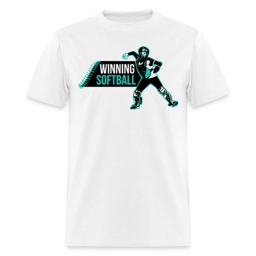Winning Softball Logo Blue - Men's T-Shirt